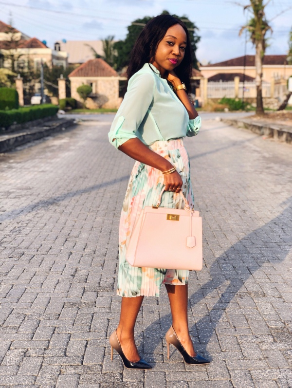 Workchic: In My Colourful Pleated Skirt