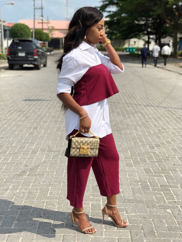 Restyling My Burgundy Co-ord Set